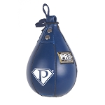 PRO Boxing Speed Bag Navy Blue Leather